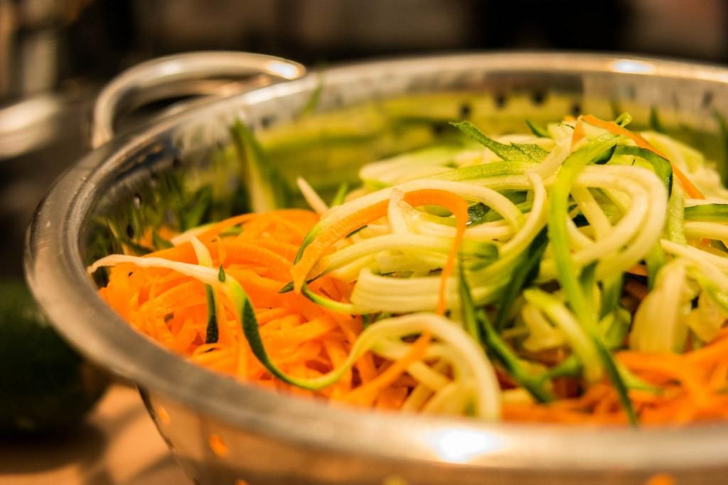 Gemüsespag mit Zander