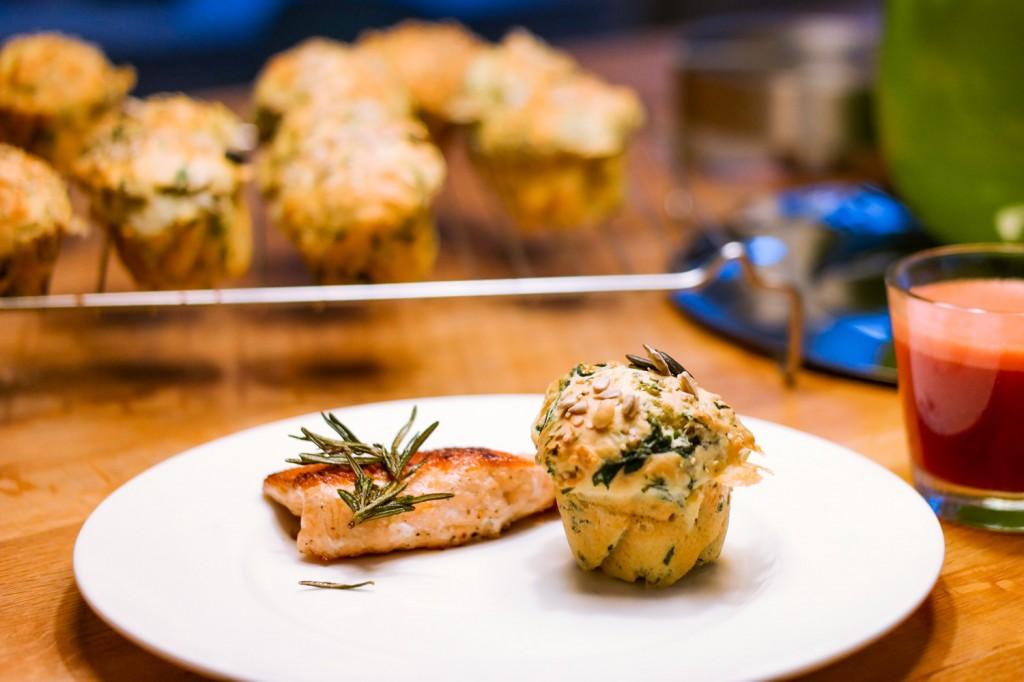 Muffin mit Lachs