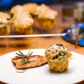 Spinat & Ziegenkäse Muffins